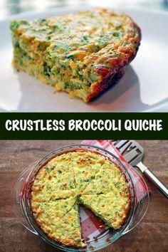 Crustless Broccoli Quiche Recipe | Healthy Recipes Blog Crustless Broccoli Quiche, Healthy Quiche, Low Carb Quiche, Spinach, Broccoli Cheddar, Frittata, Bisquick Recipes, Quiche Recipes, Pie