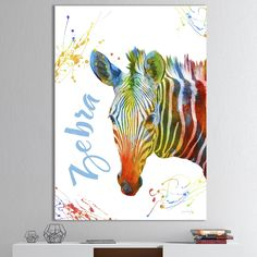 Shop for Designart 'Colorful Safari Animals A' Cottage Canvas Wall Art. Get free delivery On EVERYTHING* Overstock - Your Online Art Gallery Store! Canvas Art Prints, Framed Art Prints, Framed Wall, Canvas Frame, Canvas Wall Art, Safari Animals, Thing 1, Wall Art Pictures, Tapestry Wall Hanging