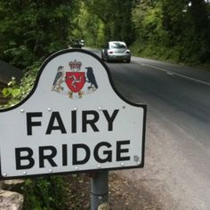 """Fairy Bridge, Isle of Man. Manx people are very superstitious and greet the fairies, or """"little people"""" as they call them, each time they cross the bridge. They also tie notes and little messages for the fairies to the trees."""