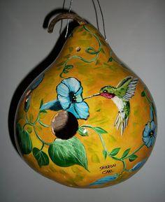 hummingbird gourds | MADE TO ORDER Gourd Birdhouse .