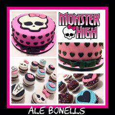 Monster High cake y minicupcakes Superhero Birthday Cake, Star Wars Birthday, Star Wars Party, Birthday Cake Girls, Birthday Cakes, Tortas Monster High, Monster High Cakes, Lego Cake, Minecraft Cake