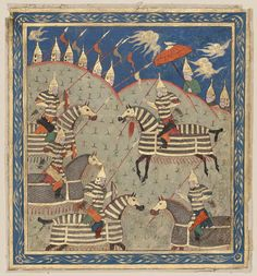 The Guardians of the Frontier of Iran Set by Rustam at the Command of Kaikaus Date:Late 15th century