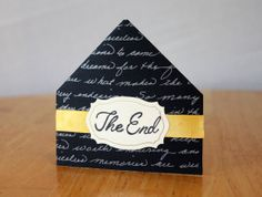 The End Corner Bookmark Classic Quote Page by MrsKristenCreations