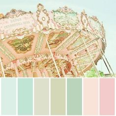 Lovely pastel color palette