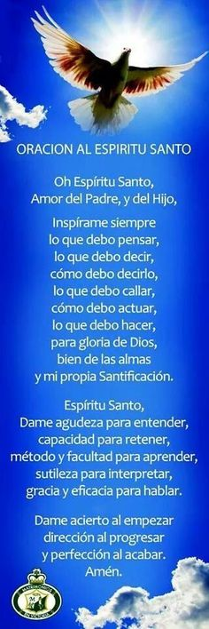 Catholic Connect ES on God Prayer, Prayer Quotes, Bible Quotes, Catholic Prayers, Spanish Prayers, Catholic Religion, Prayer Board, Religious Quotes, Faith In God