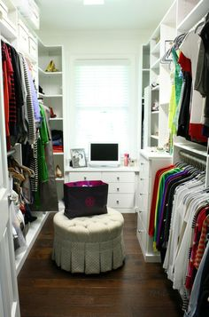 Okay...yes I now want my office space in my {future amazing walk-in} closet!!!!!  No one will find me there! :D