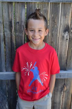 4th of July Boys Tshirt Baseball Glow in by PaisleesandPigtails, $13.00
