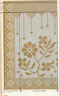 Schemi per il filet: Tendine per la finestra