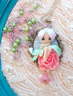 fairy necklace by lapetitedeco on Etsy