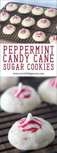 Peppermint Kiss Sugar Cookies - these are so easy and scream Christmas! From www.overthebigmoo...!