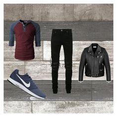 """""""10k"""" by penguinrocker ❤ liked on Polyvore featuring AMIRI, NIKE, Yves Saint Laurent, men's fashion and menswear"""