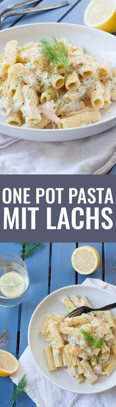 Pasta with cream cheese sauce and smoked salmon - One-Pot Gerichte - Rezepte Noodle Recipes, Pizza Recipes, Dinner Recipes, Healthy Recipes, Cake Recipes, Cream Cheese Pasta, Cream Pasta, One Pot Pasta, Evening Meals