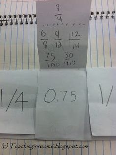 What a great way for students to see the connection between decimals, percents…