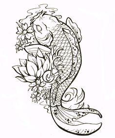 Plantillas Para Tatuajes Del Pez Koi Pez Koi Koi Fish Tattoo