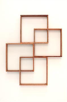 4 Shadow Box Retro Shelf Industrial vintage Art Cabinet Wall Teak Picture Book | Senkki Furniture | madeit.com.au