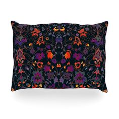 "Nikki Strange ""Bali Tapestry"" Dark Oblong Pillow"