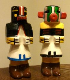 Vintage Kachina Doll Salt Pepper Shakers Victoria Ceramics Japan | eBay