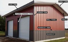 Select your project color for your steel buildings. The factory color chart will help you chose the most appropiate color for your metal buildings and steel buildings.