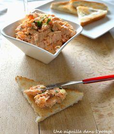 rillettes de saumon Joel Robuchon, French Food, Spanakopita, Charcuterie, Starters, Apple Pie, Entrees, Tapas, Cheese