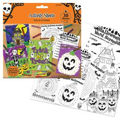 Party Ark's 'Halloween Colouring & Activity Sheets'