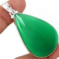 Green Onyx 925 Sterling Silver Pendant Jewelry GROP383