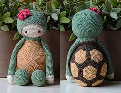 Crochet Pattern Krissie the Turtle von MyKrissieDolls auf Etsy, Crochet Amigurumi, Crochet Food, Cute Crochet, Amigurumi Doll, Amigurumi Patterns, Crochet Crafts, Crochet Dolls, Crochet Baby, Crochet Projects