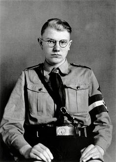 Member of the Hitler Youth Party. August Sander. Does anyone think this looks like a Nazi version of Harry potter?