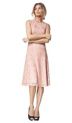 Angelina - salmon - Flared lace dress   LaDress