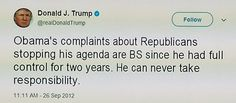 How sweet is is when his own tweets bite back. #OrangeMenace #Resist #trumptrash