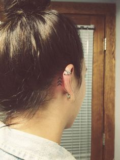 love this behind the ear tattoo! Reminds me that life goes on :)