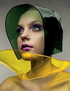 jessica stam for vogue italia, color, fashion editorial, shape