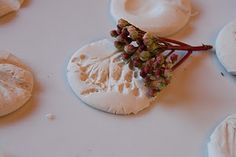 great idea..could do small with metallic clay and make necklaces