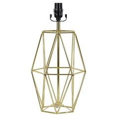 Nate Berkus Gold Metal Lamp Base How About This For The Console