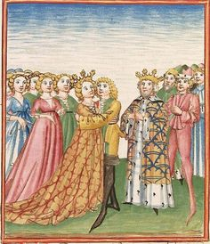 Elisabeth <Nassau-Saarbrücken, Gräfin, 1393-1456> Herpin — Stuttgart (?) - Werkstatt Ludwig Henfflin, um 1470 Cod. Pal. germ. 152 Folio 141r