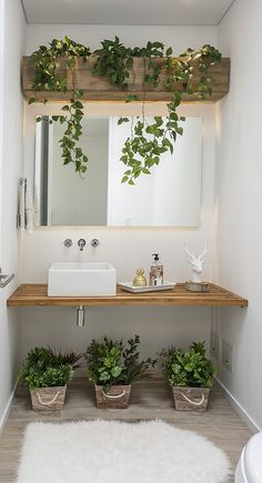 Zoom on kitchen trends 2018 - My Romodel Bathroom Plants, Bathroom Colors, Bathroom Sets, House Plants Decor, Plant Decor, Bathroom Design Small, Bathroom Interior Design, Kitchen Trends, Kitchen Ideas