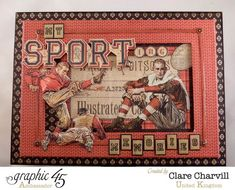 Love this Good ol' Sport keepsake box by the amazing Clare! #graphic45