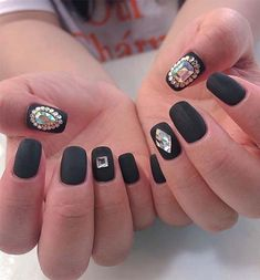 44 new trend of black nail art in 2019 Black Nail Art, Black Nails, Paint Designs, Nail Art Designs, Nail Paints, Easy Nail Art, New Trends, Simple, New Fashion