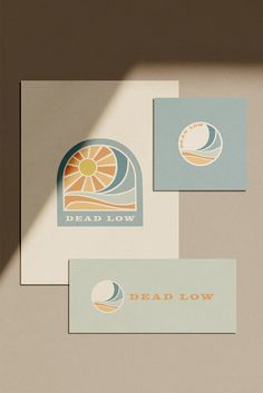 Identity design for Shop Deadlow, a surf-inspired menswear shop at the Jersey Shore. Brand Identity Design, Graphic Design Branding, Packaging Design, Textile Prints, Textile Design, Catalogue Layout, Print Design, Web Design, Graphic Design Studios