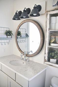34 Cheap DIY Bathroom Ideas Cheap Bathroom Decor Ideas – DIY Farmhouse Bathroom Vanity Light Fixture – DIY Decor and Home Decorating Diy Bathroom, Rustic Bathroom Vanities, Rustic Bathrooms, Bathroom Styling, Small Bathroom, Bathroom Ideas, Bathroom Storage, Bathroom Remodeling, Bathroom Hooks