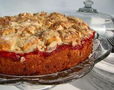 Cherry Streusel Coffee Cake from Food.com:   This is one of my family's favorite coffeecakes. The original recipe called for 3/4 cup evaporate milk with 1 Tbls. lemon juice in it and it was very good. However, using the sour cream and milk makes it even better. It is so moist and tender and delicious you will have to eat seconds! Works well for company or to give as a gift too. I always prepare it on Saturday night for Sunday morning. Just cover lightly with a towel.