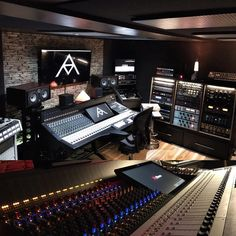 Checkout the newly installed console at Music Group - Sydney, Australia. Recording Studio Setup, Home Studio Setup, Music Studio Room, Home Theater Setup, Best Home Theater, Sound Studio, Home Theater Speakers, Home Theater Seating, Studio Interior