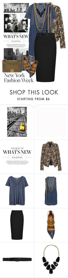 """NYFW September 2017"" by clothesmonkey ❤ liked on Polyvore featuring TAXI, Farrow & Ball, Haider Ackermann, H&M, Balmain, Malone Souliers, Paul & Joe, Kendra Scott and Chanel"