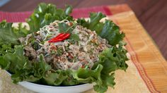 Larb woon sen is Thai pork glass noodle salad that's fresh, zesty, and a little spicy. Make it ahead of time for a pucker-your-lips kind of lunch, or in minutes as a quick and easy meal. Pork Bacon, Asian Cooking, Noodle Recipes, Asian Recipes, Thai Recipes, Food Dishes, Main Dishes, Food Inspiration, Noodles
