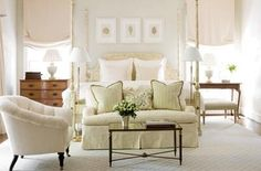 Phoebe Howard nails another bedroom!  A classic composition and beautiful soft hues. Love her style!
