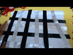 TUTORIAL COJIN DECORATIVO TRAMADO DE LISTON 2 - YouTube Picnic Blanket, Outdoor Blanket, Pretend Food, Weaving Patterns, Fabric Manipulation, Felt Crafts, Pin Cushions, Projects To Try, Ribbon