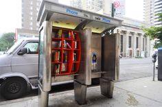 NYC Phone Booths Turned Into Free Mini Libraries by Architect John Locke | Inhabitat New York City