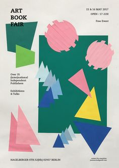 This is a personal poster work for Art Book Fair. Since Art Book Fair fundamentally deals with paper, I decided to experiment with colored paper to make the basic graphics for the poster. Graphic Artwork, Graphic Design Posters, Graphic Design Typography, Art Book Fair, Book Art, Book And Frame, Design Basics, Composition Design, Typography Layout