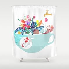 Dream Shower, Shower Curtains, Tropical, Prints