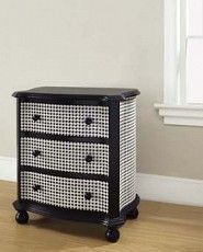 Hand-Painted Black and White Houndstooth Accent Chest - eclectic - dressers chests and bedroom armoires - Overstock Funky Furniture, White Furniture, Furniture Makeover, Painted Furniture, Alabama Room, Alabama Baby, Accent Chest, Ikea, Houses