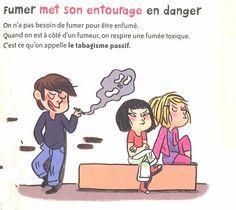 Dangers of passive smoking. Entourage, Passive Smoking, France, Comics, Smoking, Learning, Comic Book, Comic Books